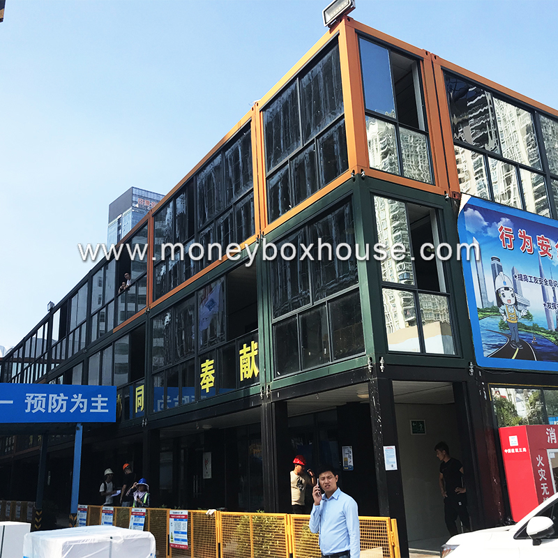 China 2018 flat pack luxury container homes multistoried building